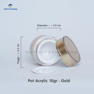 POT ACRYLIC 10GR GOLD