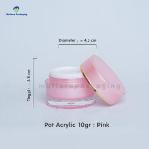 POT ACRYLIC 10GR PINK