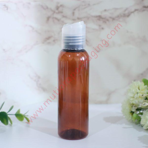 Botol Dikstop 100ml Amber tutup Natural