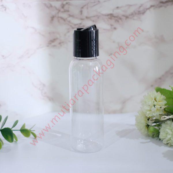 Botol Disktop 100ml Natural tutup Hitam