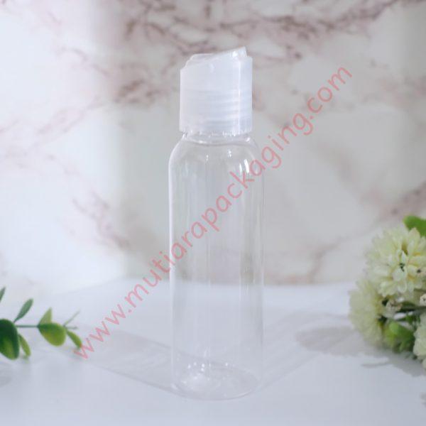 Botol Disktop 100ml Natural tutup Natural