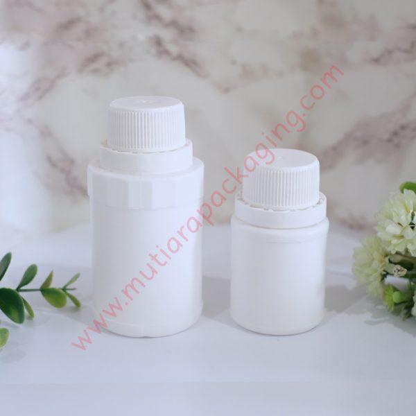 Botol Kapsul Bulat isi 60 dan 30