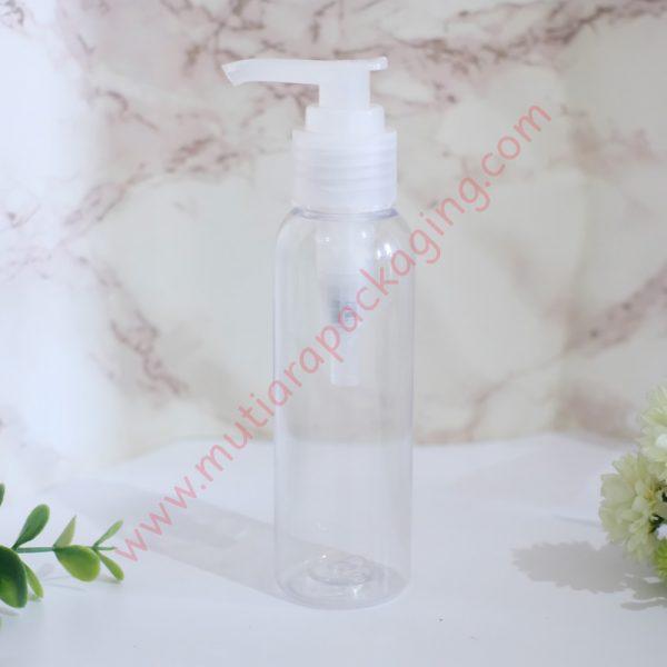 Botol Pump 100ml Natural tutup Natural