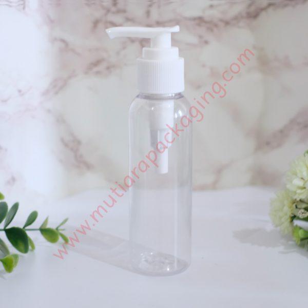 Botol Pump 100ml Natural tutup Putih