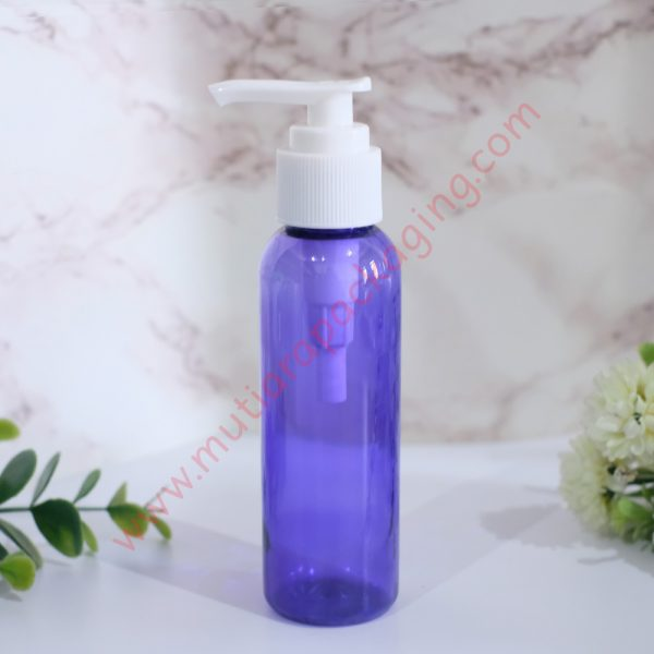 Botol Pump 100ml Purple tutup Putih
