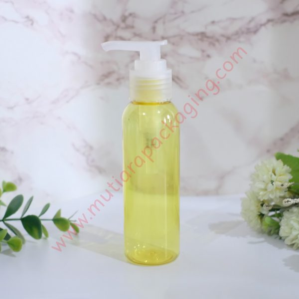 Botol Pump 100ml Yellow tutup Natural