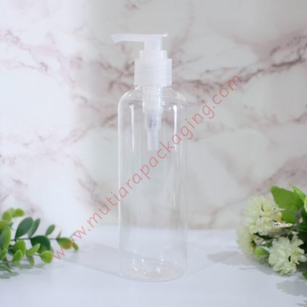 Botol Pump 250ml Natural tutup Natural