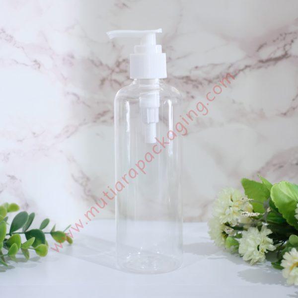 Botol Pump 250ml Natural tutup Putih