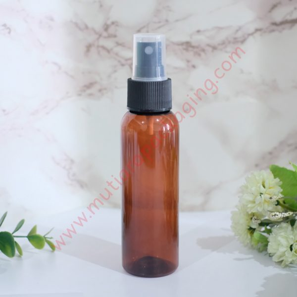 Botol Spray 100ml Amber tutup Hitam