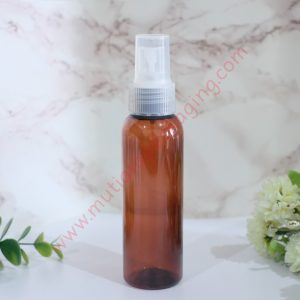 BOTOL SPRAY 100ML AMBER TUTUP PUTIH