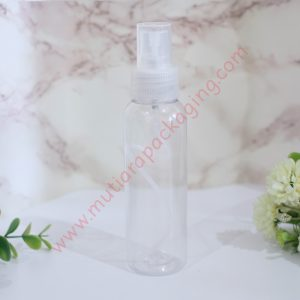 BOTOL SPRAY 100ML NATURAL TUTUP HITAM