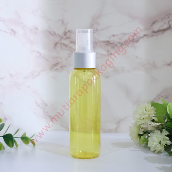 Botol Spray 100ml Yellow tutup Silver Dove