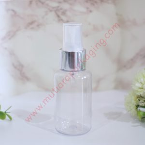 BOTOL TUBULAR 60ML SPRAY BENING TUTUP HITAM