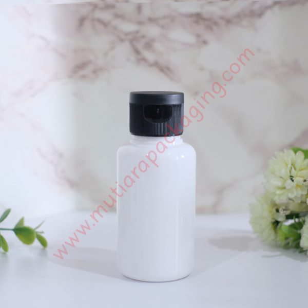 Botol tubular fliptop 60ml Dove tutup Hitam