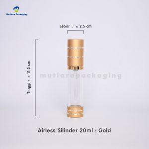 AIRLESS SILINDER 20ML BENING GOLD