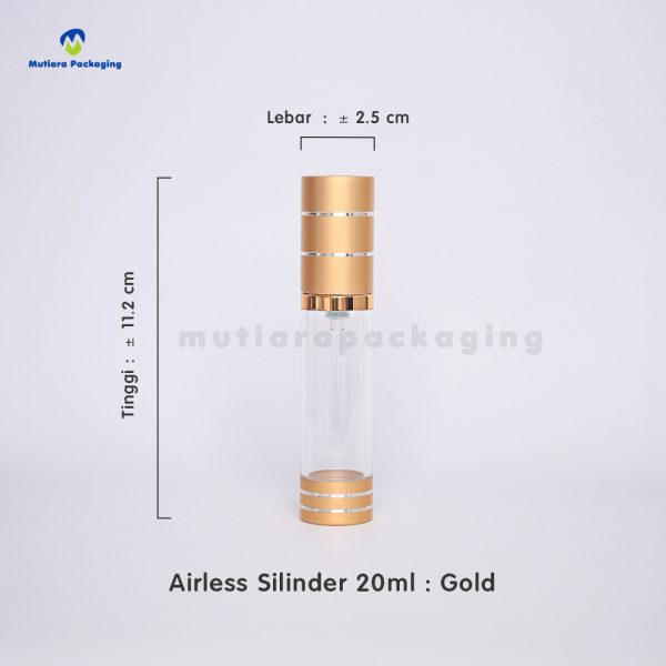 airless silinder gold