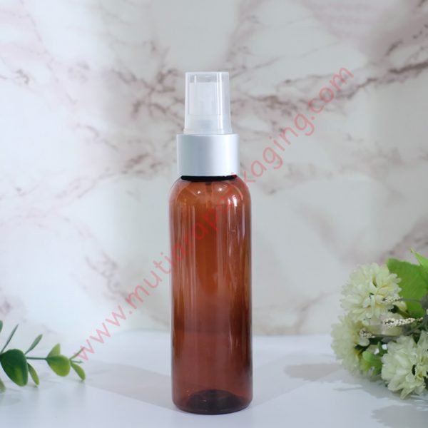 botol Spray 100ml Amber tutup Silver Dove