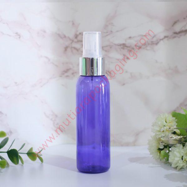 botol Spray 100ml Purple tutup Silver Metalic