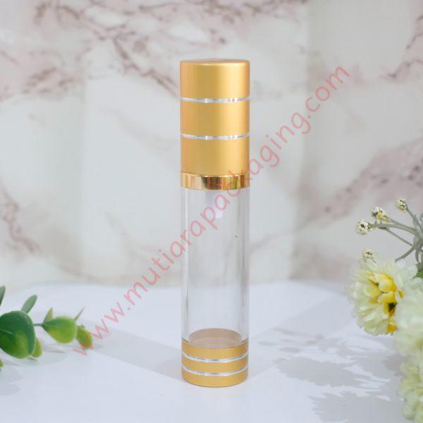 botol airless silinder 20ml bening gold
