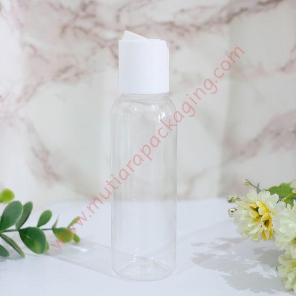 botol disktop 100ml natural tutup putih