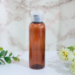 BOTOL DIKSTOP 100ML AMBER TUTUP NATURAL
