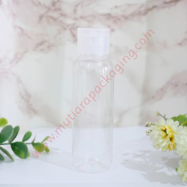 botol fliptop 100ml natural tutup natural