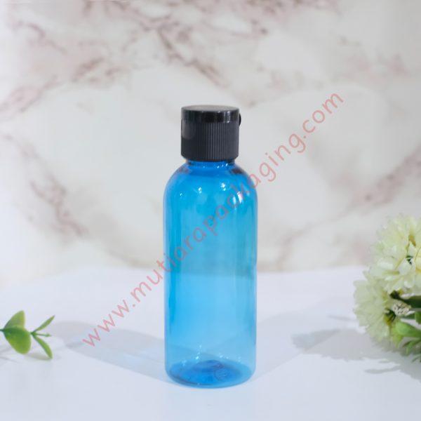 botol fliptop 60ml biru tutup hitam