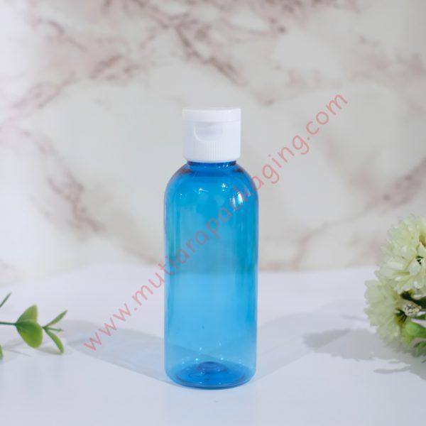 botol fliptop 60ml biru tutup putih