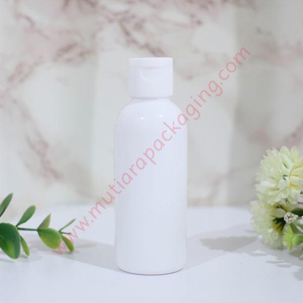 botol fliptop 60ml dove tutup putih