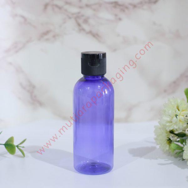 botol fliptop 60ml violet tutup hitam