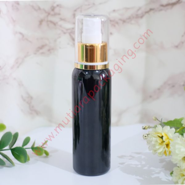botol spray 100ml hitam tutup gold