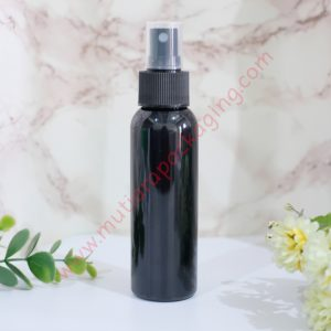 BOTOL SPRAY 100ML HITAM TUTUP NATURAL