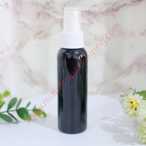 BOTOL SPRAY 100ML HITAM TUTUP HITAM