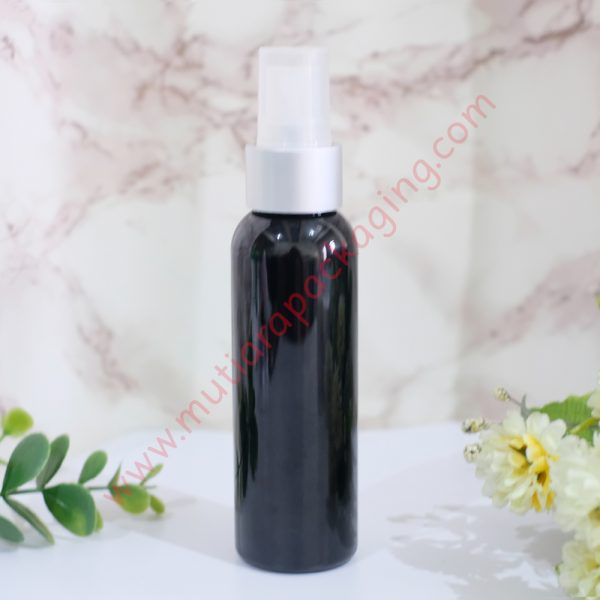 botol spray 100ml hitam tutup silver dove