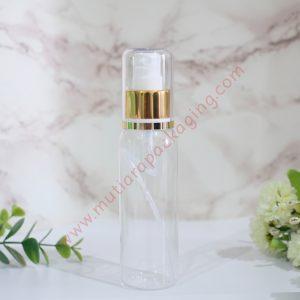 botol spray 100ml natural tutup gold