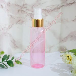 BOTOL SPRAY 100ML PINK TUTUP GOLD FULL