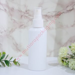 BOTOL SPRAY OVALE 100ML PUTIH TUTUP NATURAL