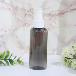 BOTOL SPRAY OVALE 100ML HITAM TUTUP NATURAL