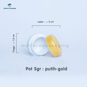 POT PP 5GR PUTIH-GOLD